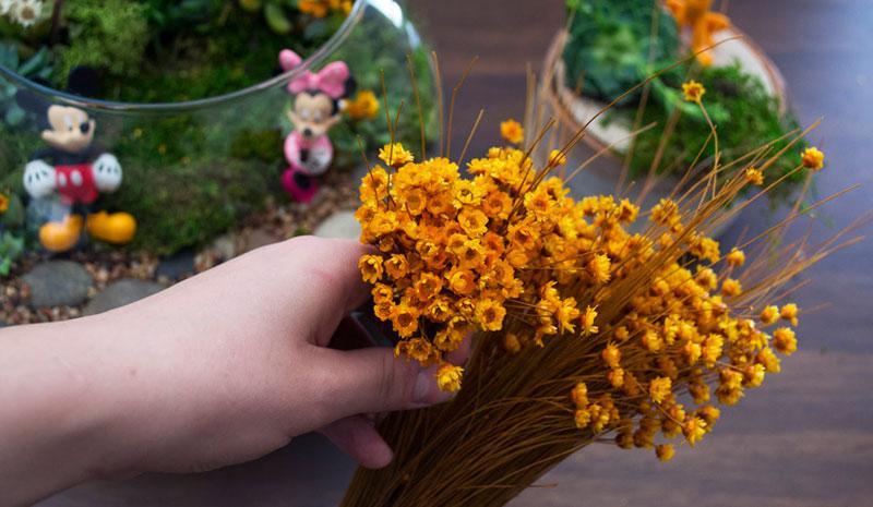 Mickey Shaped Flower DIY Step 1