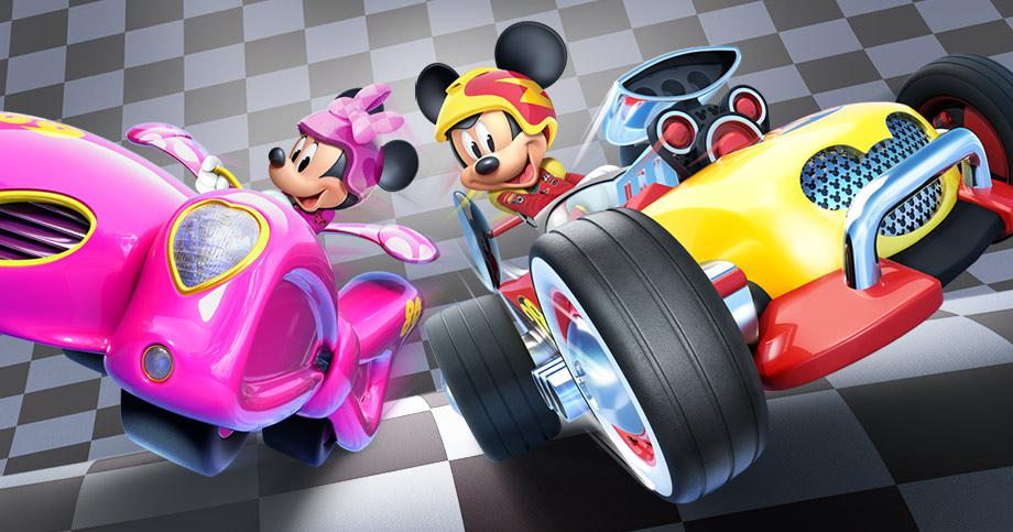 Minnie and Mickey and Roadside Racers