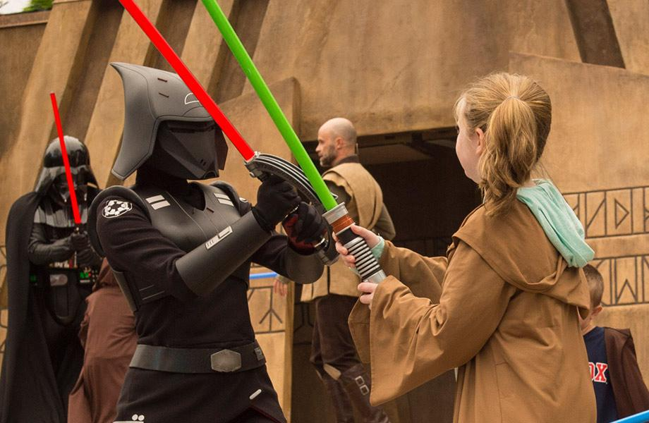 Rebel's new villain, The Seventh Sister, at Jedi Training: Trials of the Temple