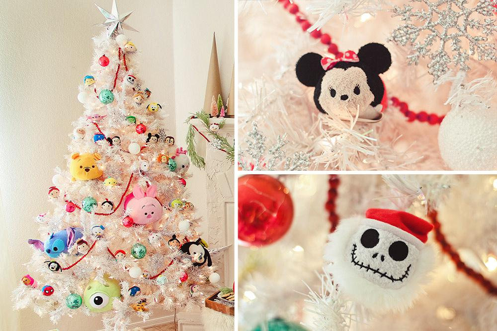 Disney Decorated Tree Collage