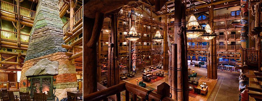 Disney Wilderness Lodge Stone Fireplace